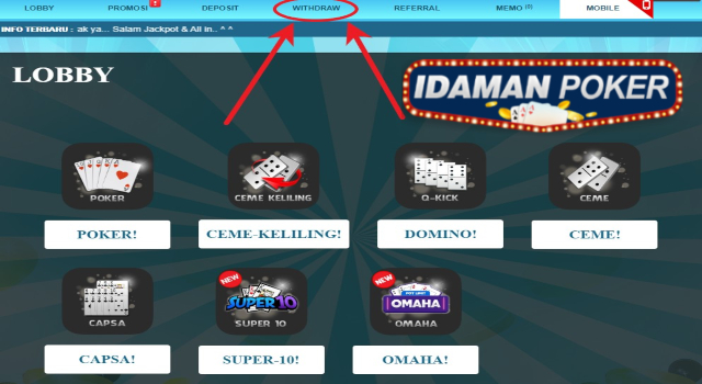 withdraw idn poker online